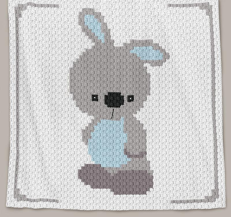 Crochet Pattern Baby Blanket Baby Bunny C2c Row By Row