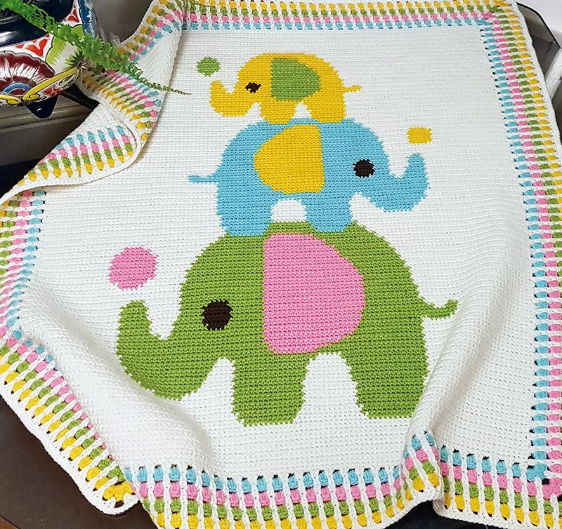 Elephant border. 😍 : crochet   754x800