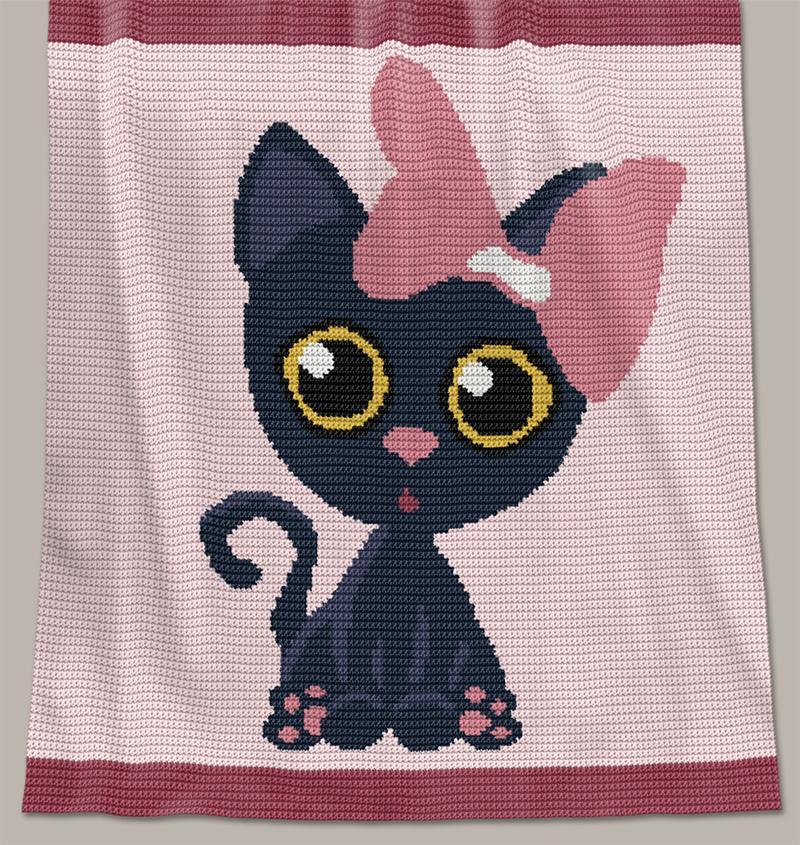 Crochet Pattern Baby Blanket - Meow